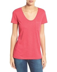Caslon rounded v neck tee medium 559258