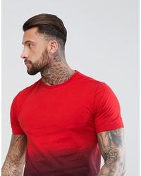 YOURTURN Dip Dye T Shirt In Red