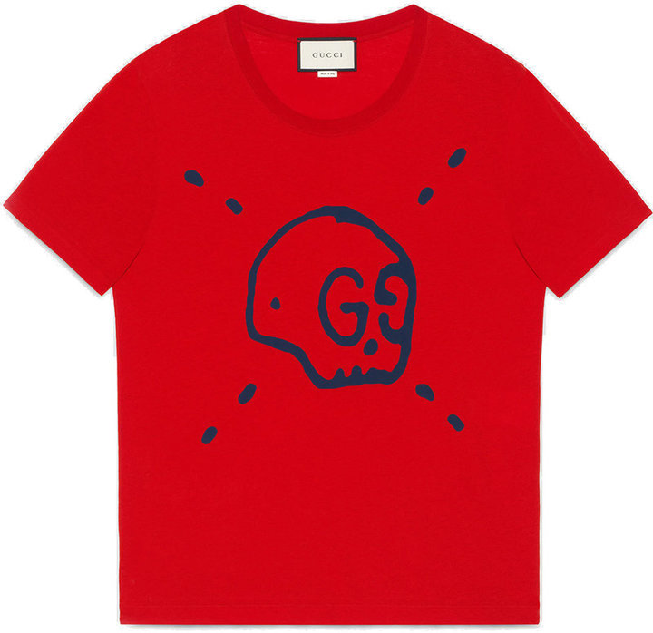 fec6f7fbe1f ... T-shirts Gucci Ghost T Shirt