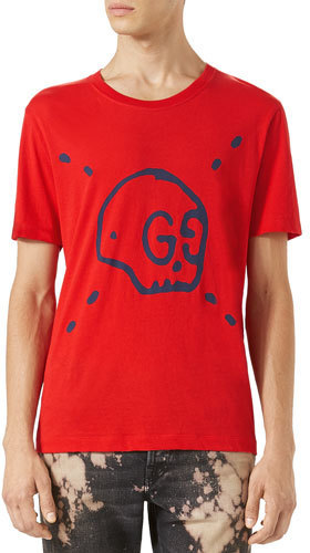 1289056b8fa ... T-shirts Gucci Ghost T Shirt Red ...