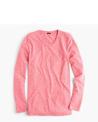 J.Crew Long Sleeve Crewneck T Shirt In Slub Cotton