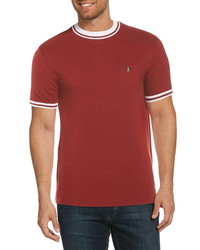 Original Penguin Mock Neck Pique T Shirt