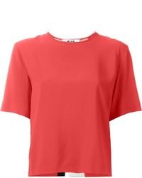 MSGM Striped Back T Shirt Blouse
