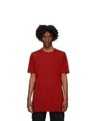 11 By Boris Bidjan Saberi Red Dye T Shirt