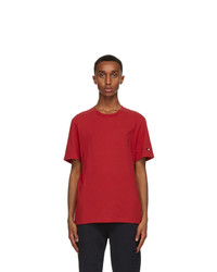Moncler Red Logo Sleeve T Shirt