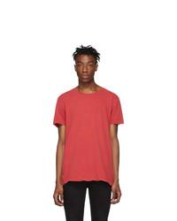 Ksubi Red Seeing Lines T Shirt