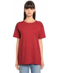 Valentino Rockstud Cotton Jersey T Shirt