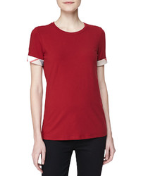Burberry Short Sleeve Crew Neck Top