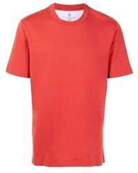 Brunello Cucinelli Short Sleeved Cotton Jersey T Shirt