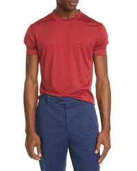 Brunello Cucinelli Silk Cotton Crewneck T Shirt