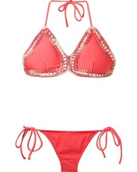 BRIGITTE Crochet Triangle Bikini Set