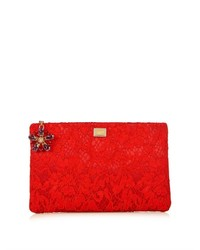 Red lace pouch bag medium 132830