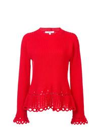 Derek Lam 10 Crosby Crochet Pullover