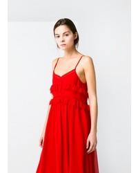 Mango Outlet Crochet Long Dress
