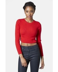 Red cropped sweater original 4662044