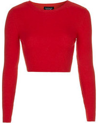 Women's Red Cropped Sweaters by Topshop | Women's Fashion
