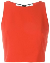 Alice + Olivia Aliceolivia Crewneck Fitted Cropped Top