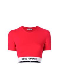 Paco Rabanne Cropped Elasticated Hem T Shirt