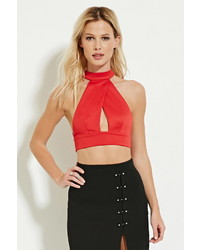 Forever 21 Cutout Halter Crop Top