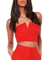 Missguided Strapless Crop Top