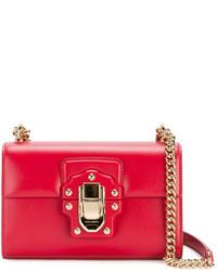 Dolce & Gabbana Mini Red Lucia Messenger Bag