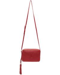 Saint Laurent Red Small Monogram Lou Camera Bag