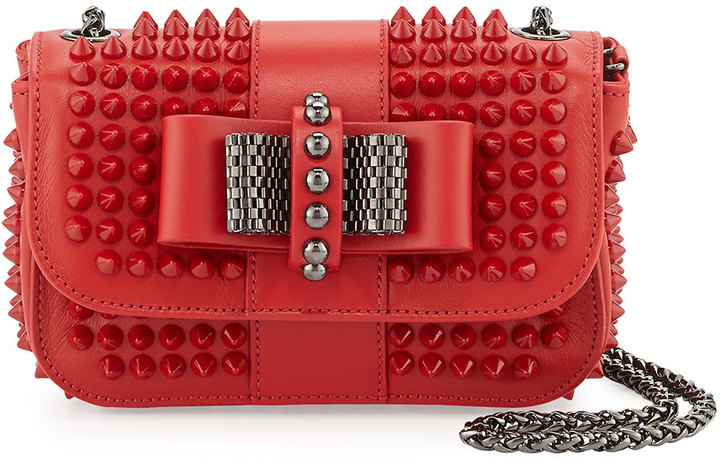 c75beb473f3 $1,395, Christian Louboutin Sweet Charity Small Spiked Crossbody Bag Red