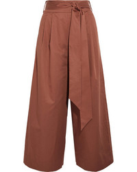 Cotton poplin culottes brick medium 3947237