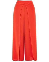 Topshop Split Wrap Crop Wide Trousers