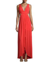 Red Cutout Evening Dress
