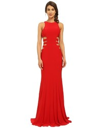 Faviana Jersey Gown W Side Cut Outs 7820