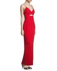 Alberto Makali Sleeveless Cutout Gown