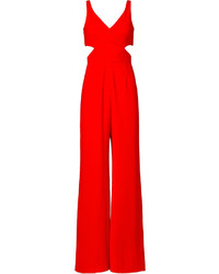 Red Cutout Jumpsuit