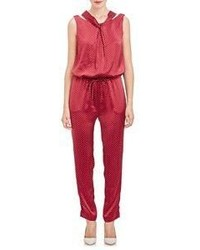 Thakoon Drawstring Jumpsuit Red Size 6 Us
