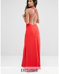 Fame and partners maxi dress with crossback detail and cut outs medium 4990362