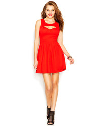 Cutout pleated sweetheart dress medium 125471