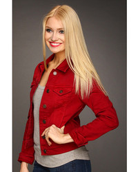 Red denim jean jacket – New Fashion Photo Blog