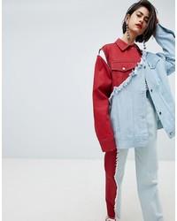 House of Holland Vivid Contrast Oversized Denim Jacket