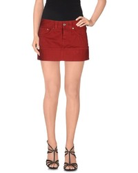 Red Denim Mini Skirts for Women | Women's Fashion