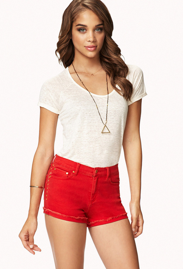 Forever 21 Studded High Waisted Shorts   Where to buy & how to wear