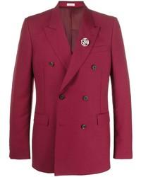 Alexander McQueen Brooch Embellished Blazer