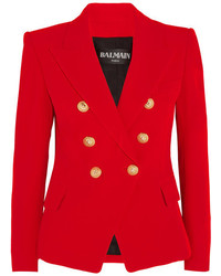 Double breasted crepe blazer red medium 5083659