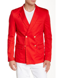 Edge By Wdny Solid Double Breasted Blazer