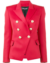 Red double breasted blazer medium 3841963