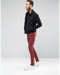 Asos Brand Super Skinny Suit Pants In Dark Red   Where to buy ...