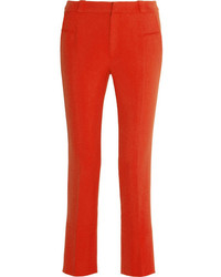 Roland Mouret Lacerta Cropped Stretch Crepe Straight Leg Pants