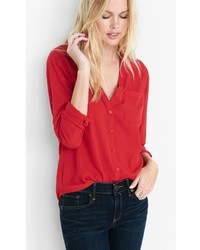 Express Original Fit Convertible Sleeve Portofino Shirt
