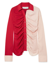 MARQUES ALMEIDA Ruched Two Tone Voile Shirt