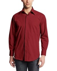 Stacy Adams Long Sleeve Standard Fit Dress Shirt With Hidden Buttons