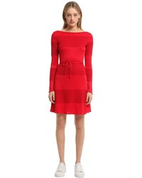 Tommy Hilfiger Cotton Blend Interlock Dress Gigi Hadid